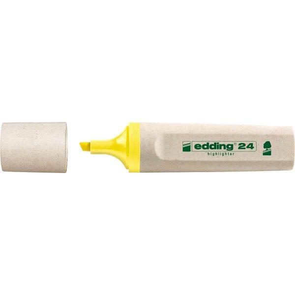 Textmarker Edding Ecoline, varf retezat, 2-5 mm, galben