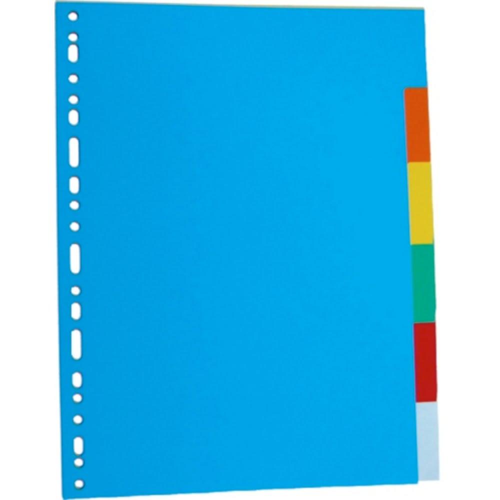 Separatoare carton color, 6 culori/set, A4, Optima