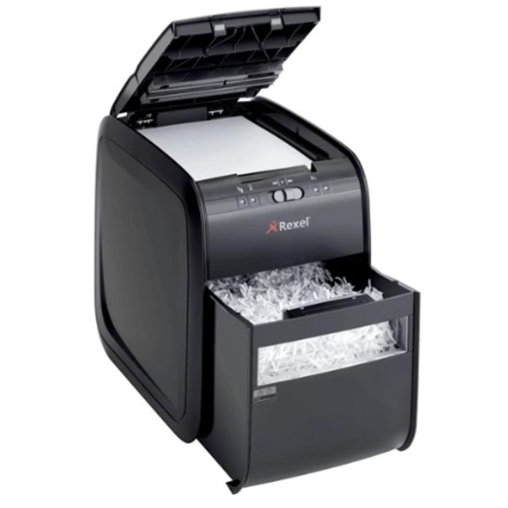 Distrugator Automat documente REXEL Auto+ 90X, 90 coli, P3, cross-cut (confeti)