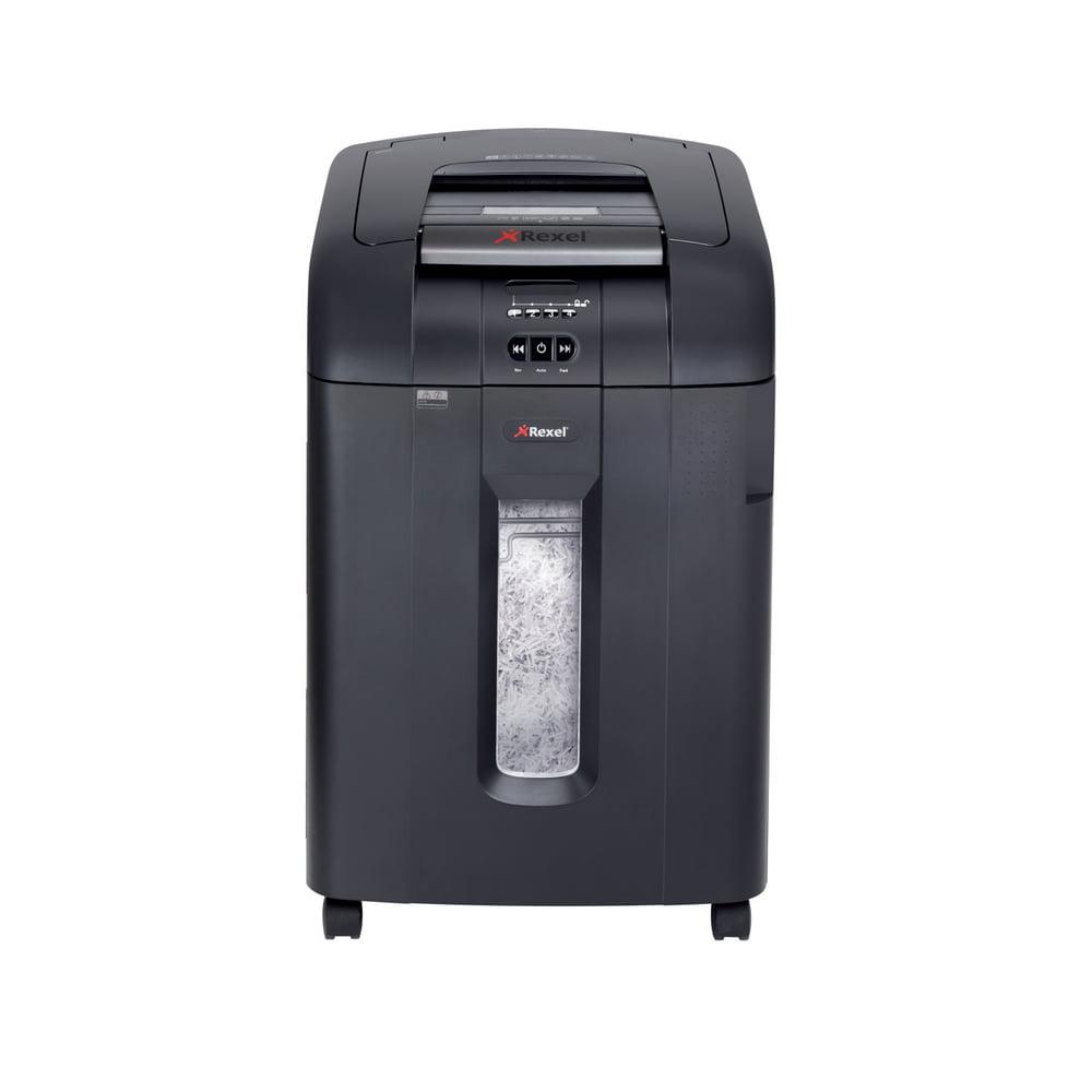 Distrugator Automat documente REXEL Auto+ 600X, 600 coli, P4, cross-cut (confeti)