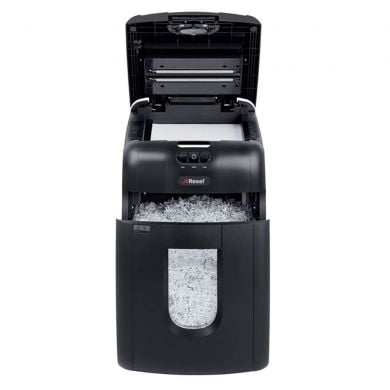 Distrugator Automat documente REXEL Auto+ 130M, 130 coli, P5, micro-cut (particule)