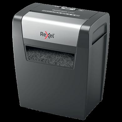 Distrugator documente REXEL MOMENTUM X406, 6 coli, P4, cross-cut (confeti)