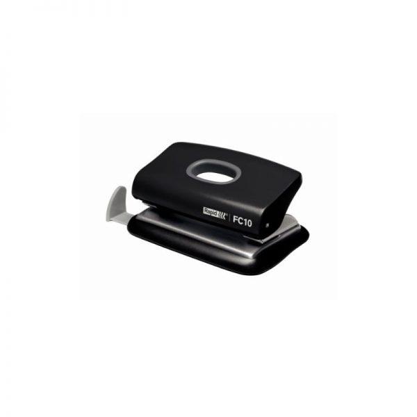 Mini-perforator plastic RAPID FC10, 10 coli - negru