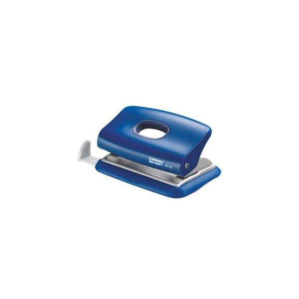 Mini-perforator plastic RAPID FC10, 10 coli - albastru