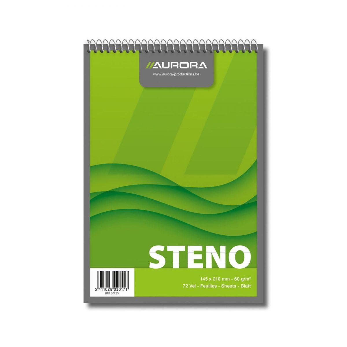 Blocnotes cu spirala A5, 72 file, AURORA Office - dictando