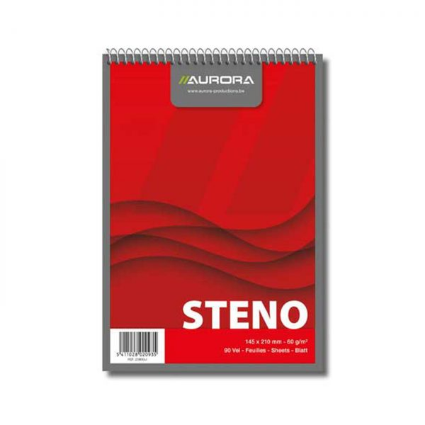 Blocnotes cu spirala A5, 90 file, AURORA Office - velin