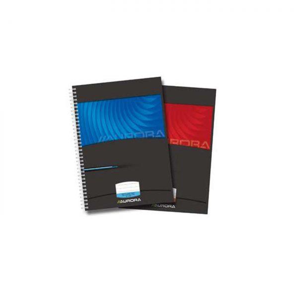 Caiet cu spirala A4, 50 file - 90g/mp, coperti carton lucios, AURORA Mano