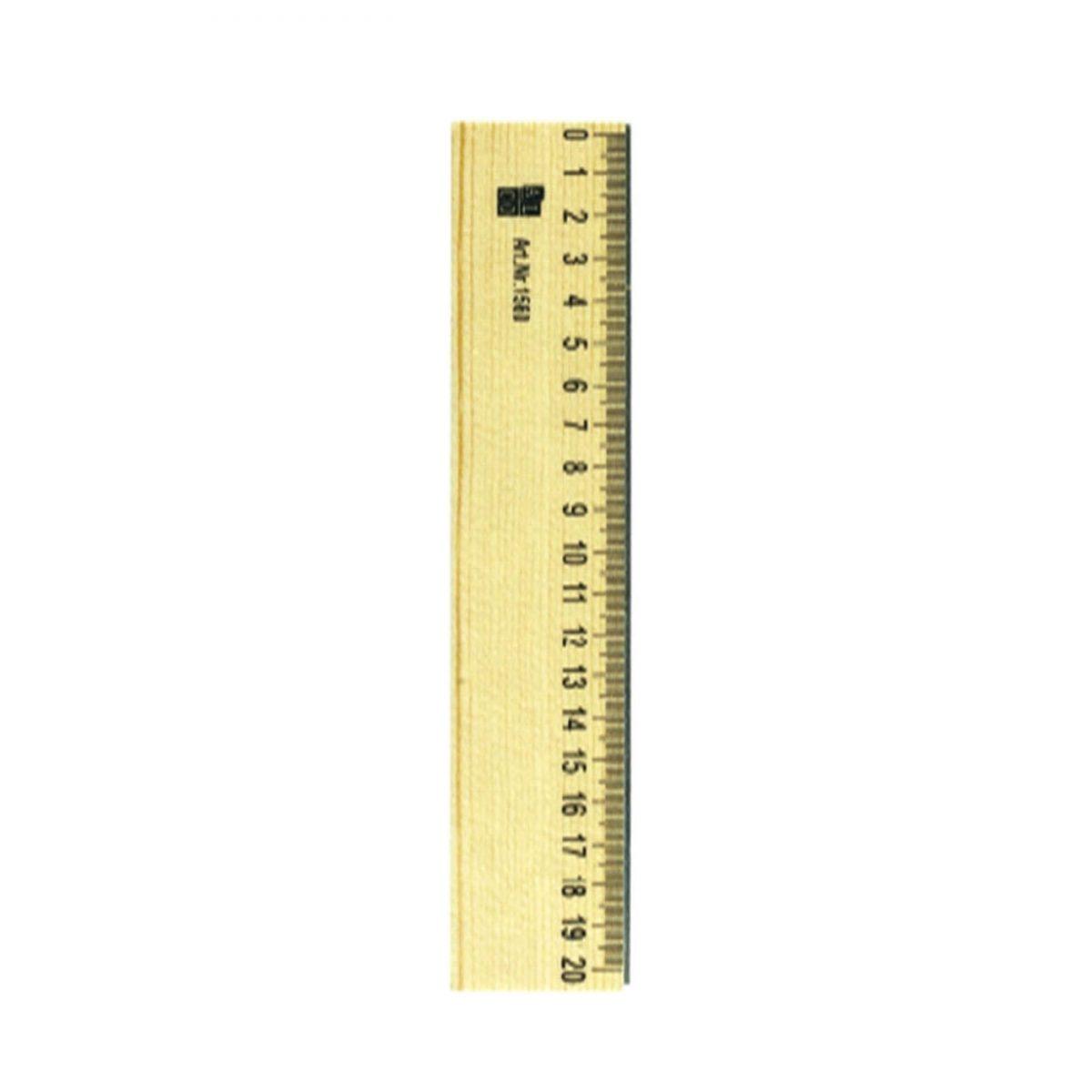Rigla din lemn, 20cm, ALCO