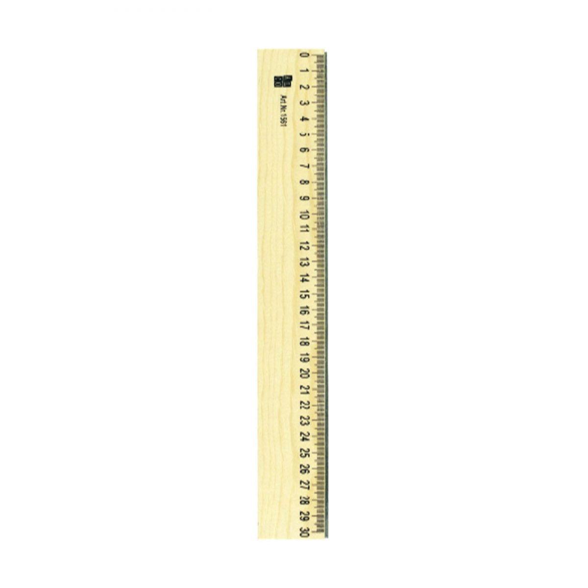 Rigla din lemn, 30cm, ALCO