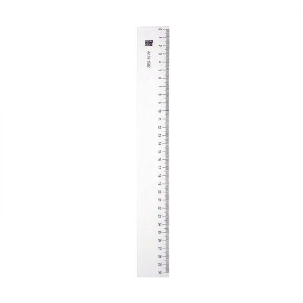 Rigla flexibila din plastic, 30cm, ALCO - transparent