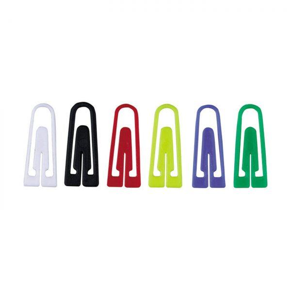 Agrafe birou din plastic, 100/cutie, ALCO - asortate