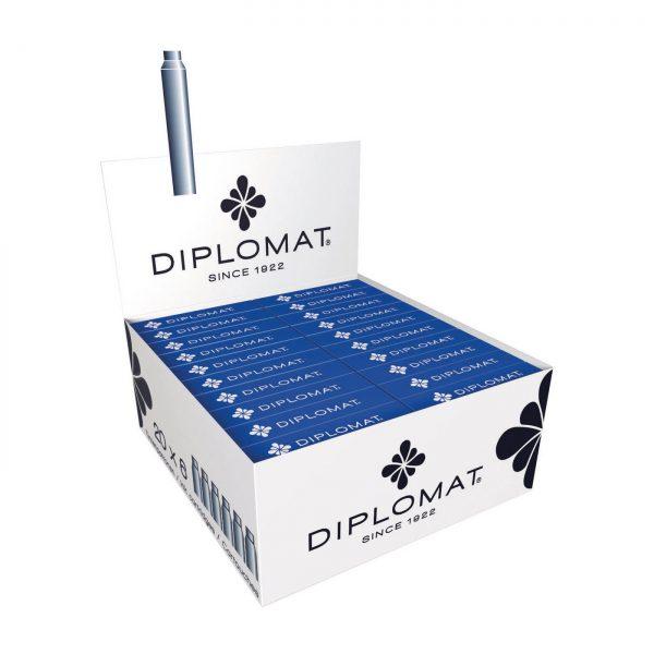 Patroane cerneala, 6 buc/cutie, DIPLOMAT - albastru royal
