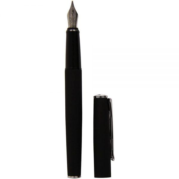 DIPLOMAT Esteem - Black Matt - stilou cu penita F, din otel inoxidabil