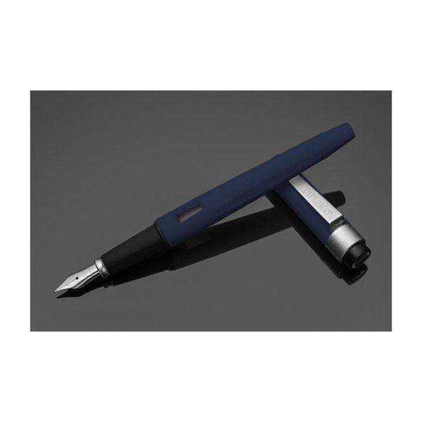 DIPLOMAT Magnum - Soft Touch Blue - stilou cu penita M, din otel inoxidabil