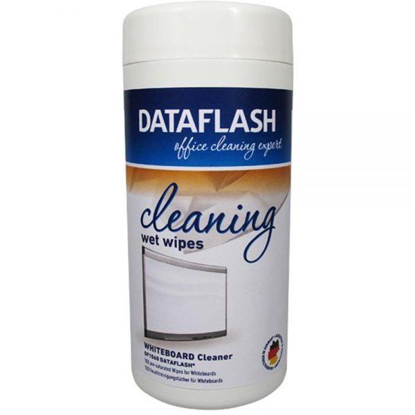 Servetele umede pentru curatare table albe pentru scris, 100/tub, DATA FLASH