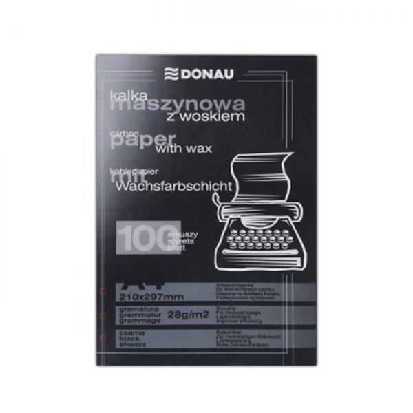 Indigo pentru masina de scris, 100 file/set, DONAU - negru