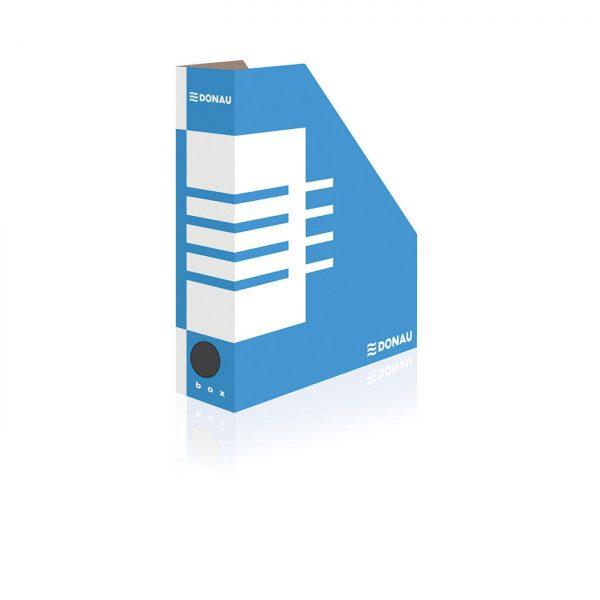 Suport vertical carton pentru cataloage, A4 - 8cm, DONAU - albastru