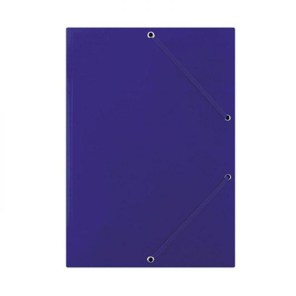 Mapa din carton plastifiat, cu elastic pe colturi, 400gsm, DONAU - albastru