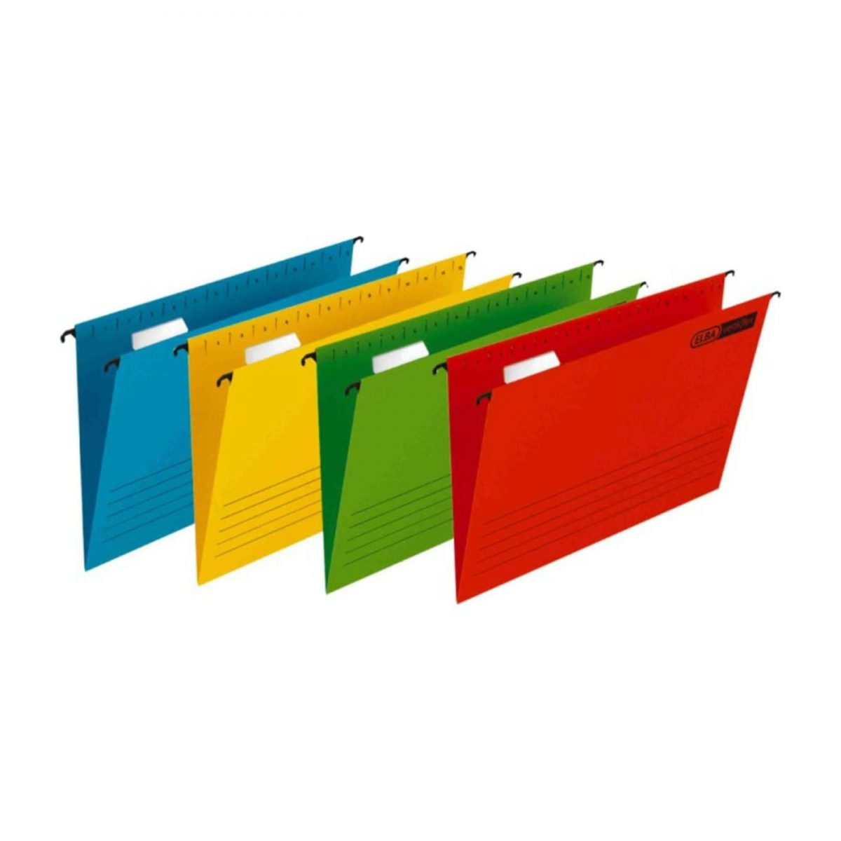 Dosar suspendabil cu eticheta, bagheta metalica, carton 230g/mp, 25 buc/cutie, Verticflex - galben