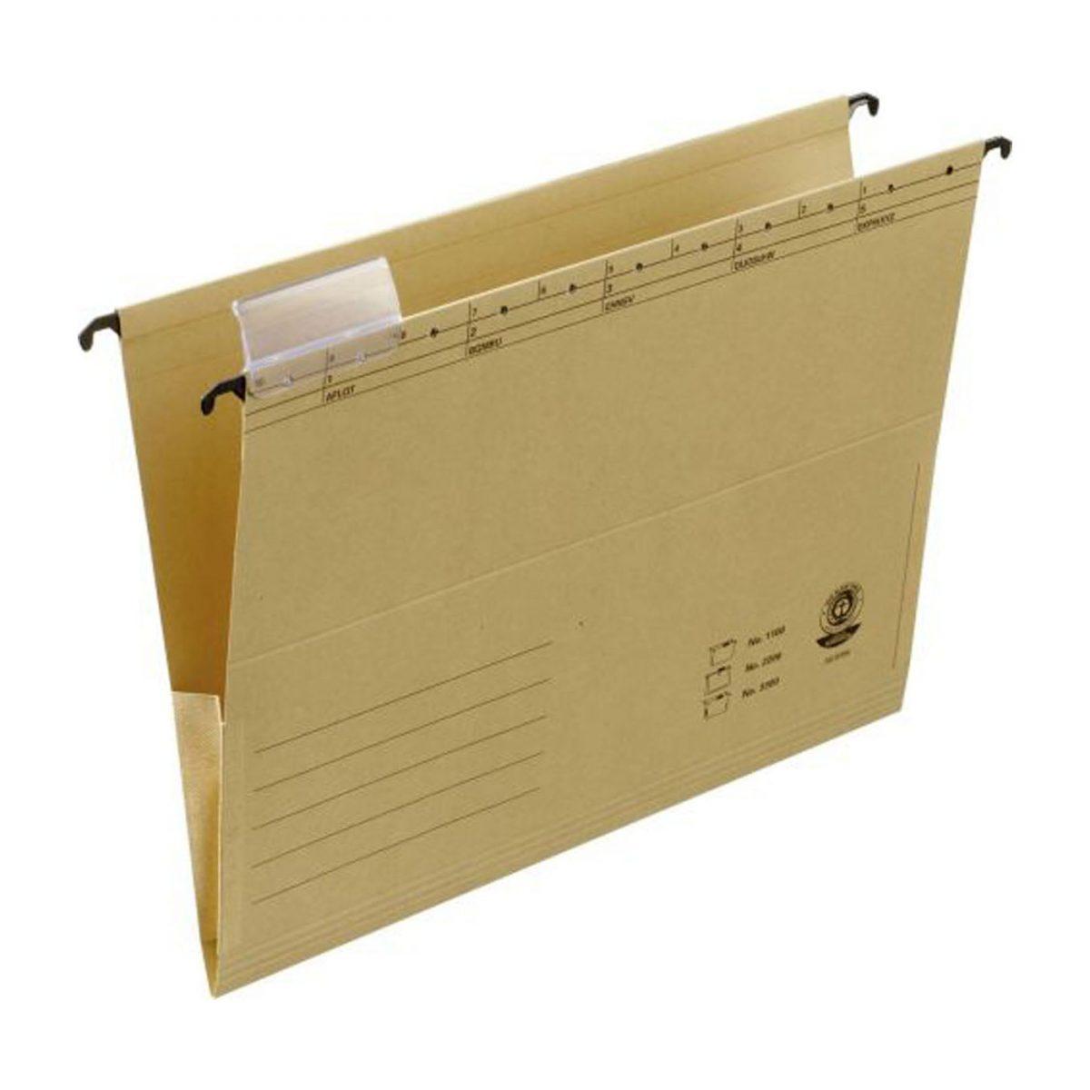 Dosar suspendabil cu burduf si eticheta , bagheta metalica, ELBA 3300 - kraft
