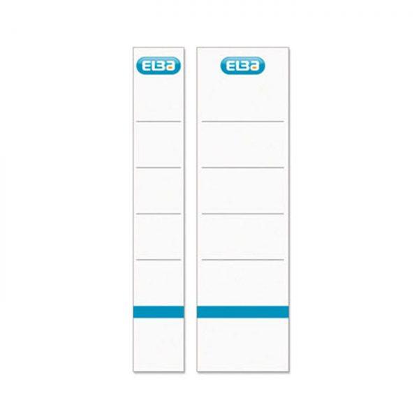 Etichete pentru biblioraft albe, 50 mm , 10/set, ELBA