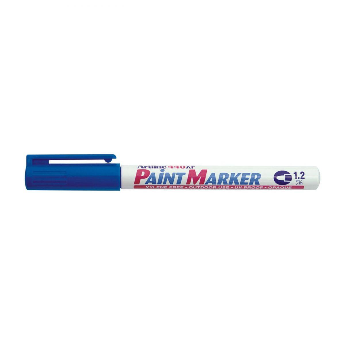 Marker cu vopsea ARTLINE 440XF, corp metalic, varf rotund 1.2mm - albastru