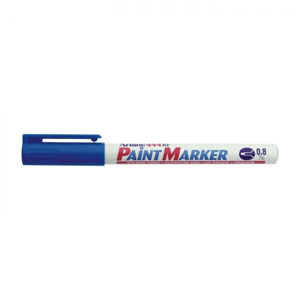 Marker cu vopsea ARTLINE 444XF, corp metalic, varf rotund 0.8mm - albastru