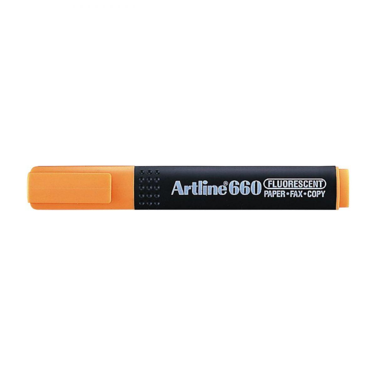 Textmarker ARTLINE 660, varf tesit 1.0-4.0mm - portocaliu fluorescent