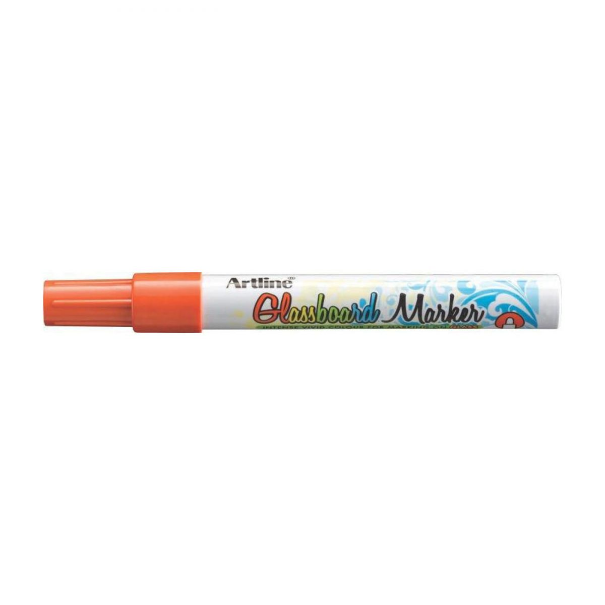 Marker pentru tabla de sticla ARTLINE Glassboard, varf rotund 2.0mm - portocaliu fluorescent