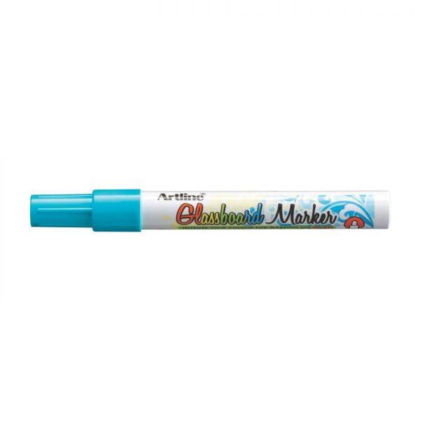 Marker pentru tabla de sticla ARTLINE Glassboard, varf rotund 2.0mm - bleu