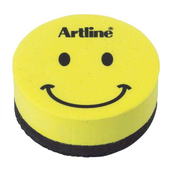Burete magnetic whiteboard ARTLINE Smiley, pentru table magnetice de scris