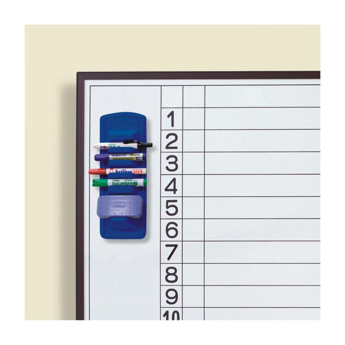 Suport magnetic ARTLINE, pentru 4 markere + burete, pentru table magnetice