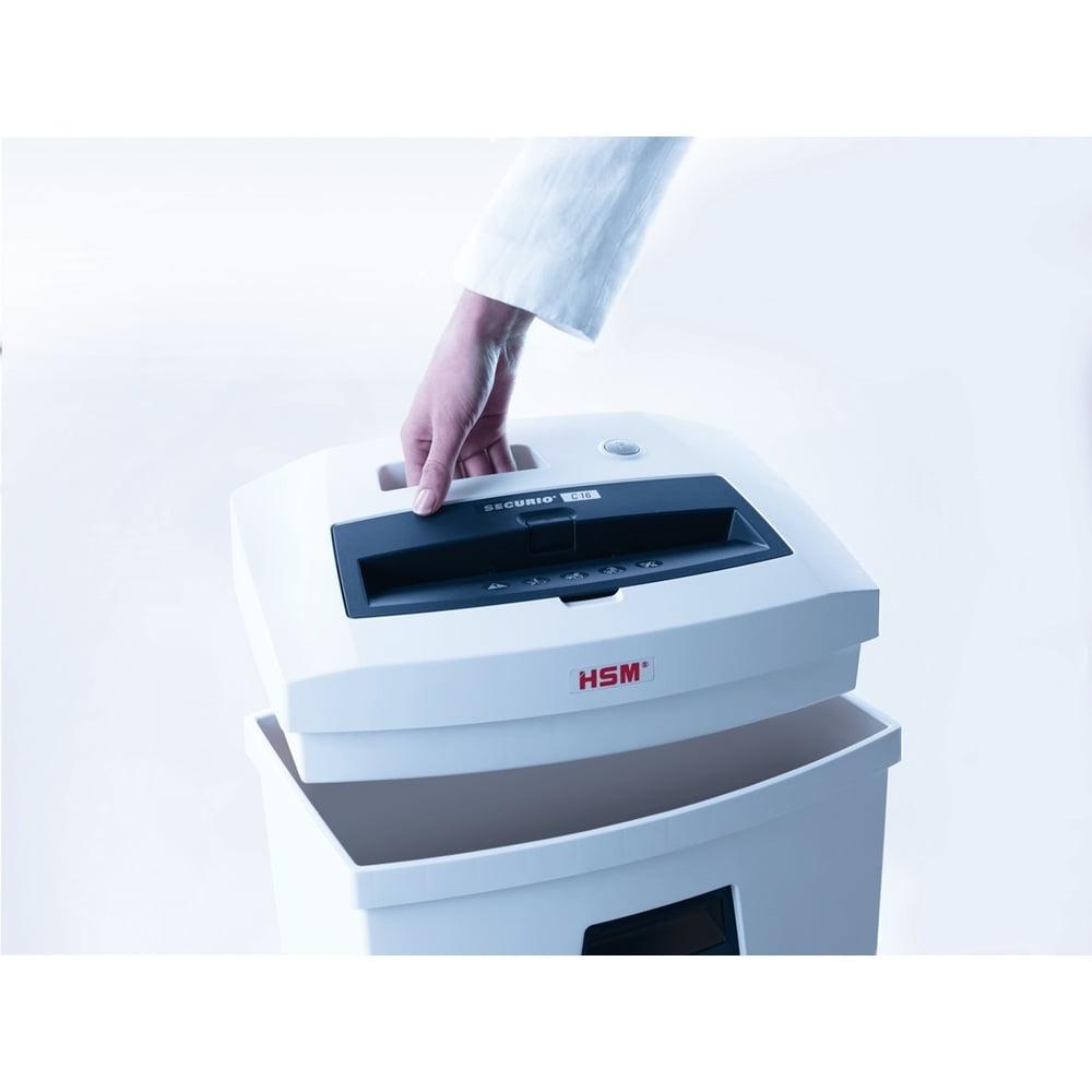 Distrugator documente HSM Securio C16 - 5-6 coli - cross cut (4 x 25 mm) - nivel securitate 3