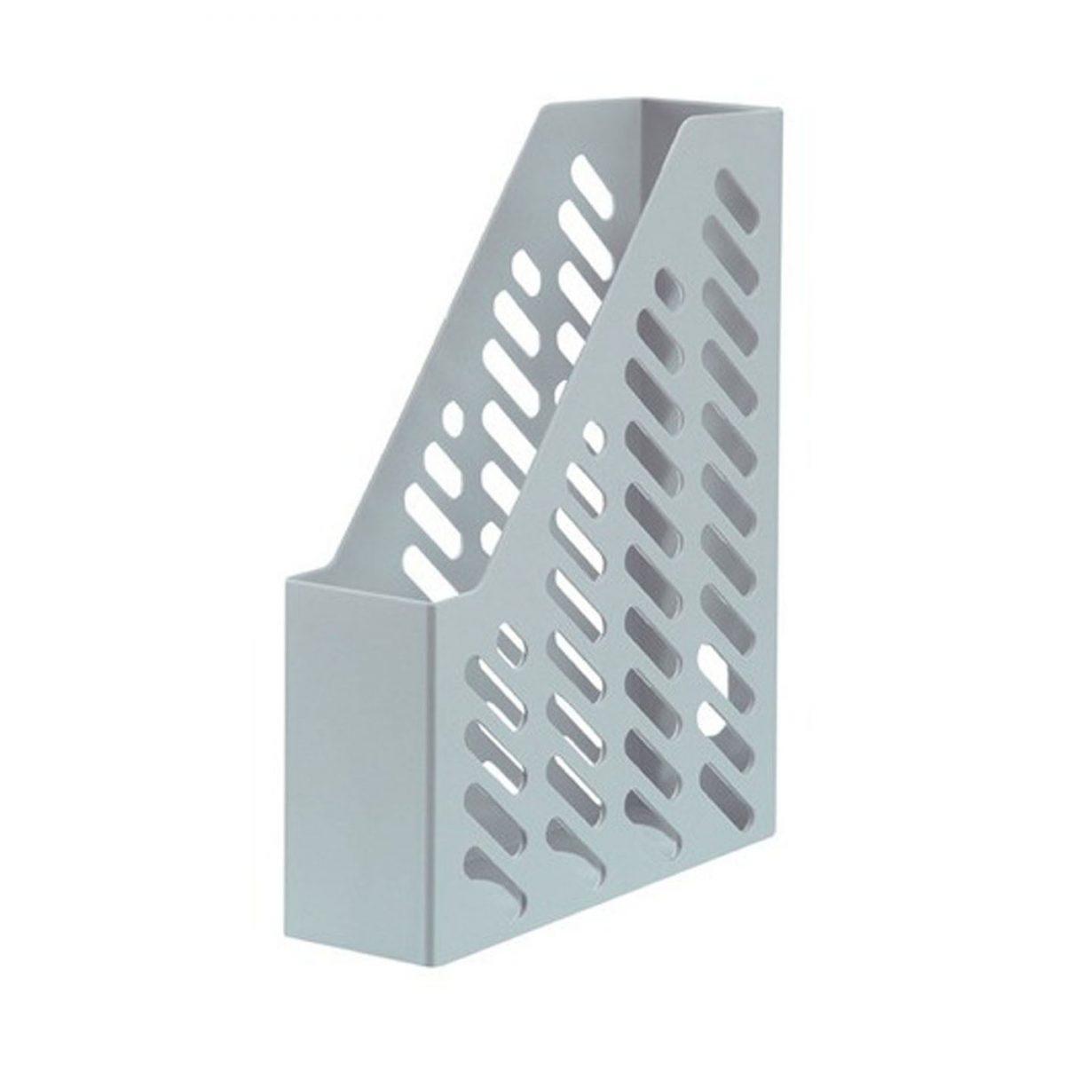 Suport vertical plastic pentru cataloage HAN Klassik - gri deschis