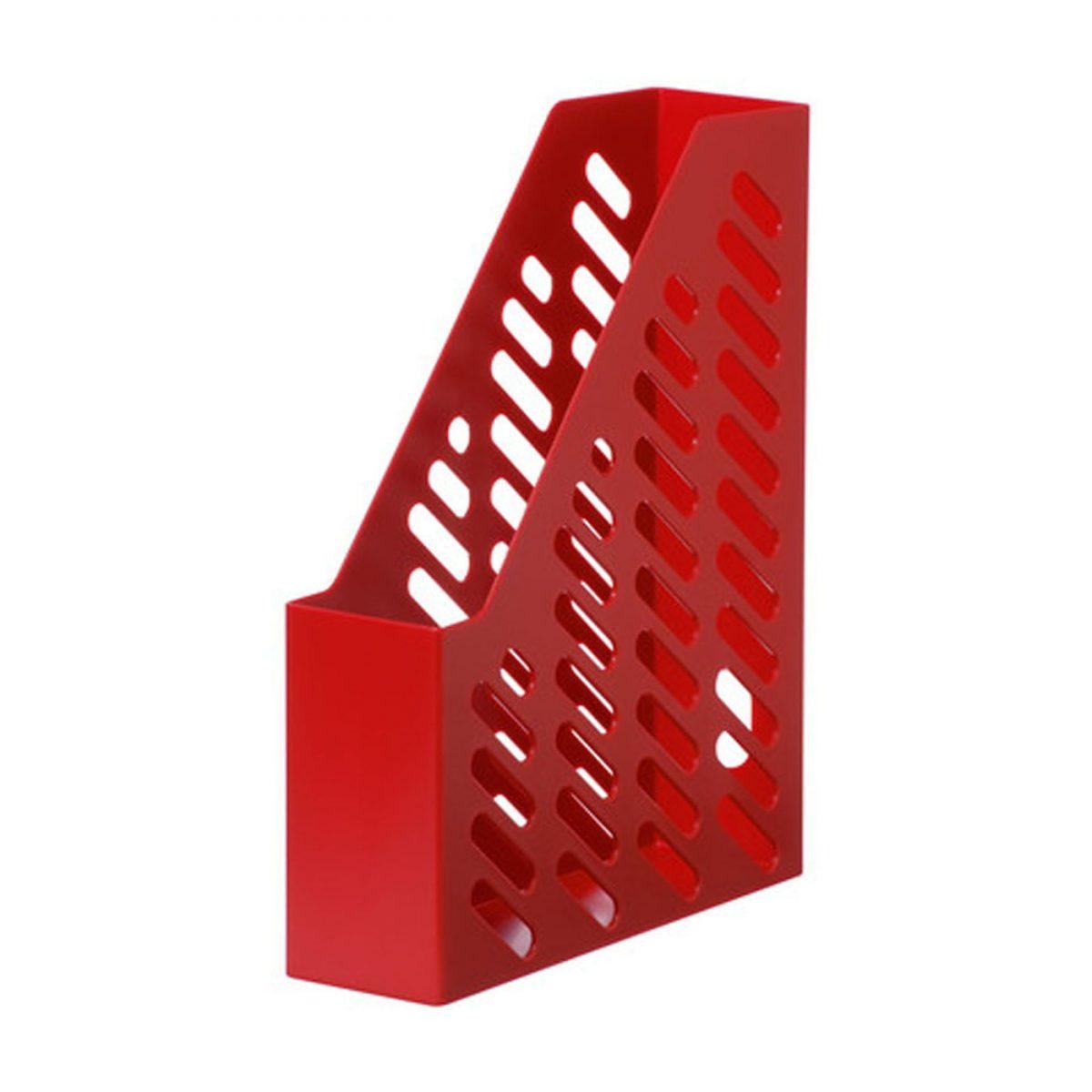 Suport vertical plastic pentru cataloage HAN Klassik - rosu