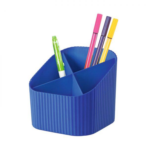 Suport pentru instrumente de scris, 4 compartimente, HAN X-Loop - albastru