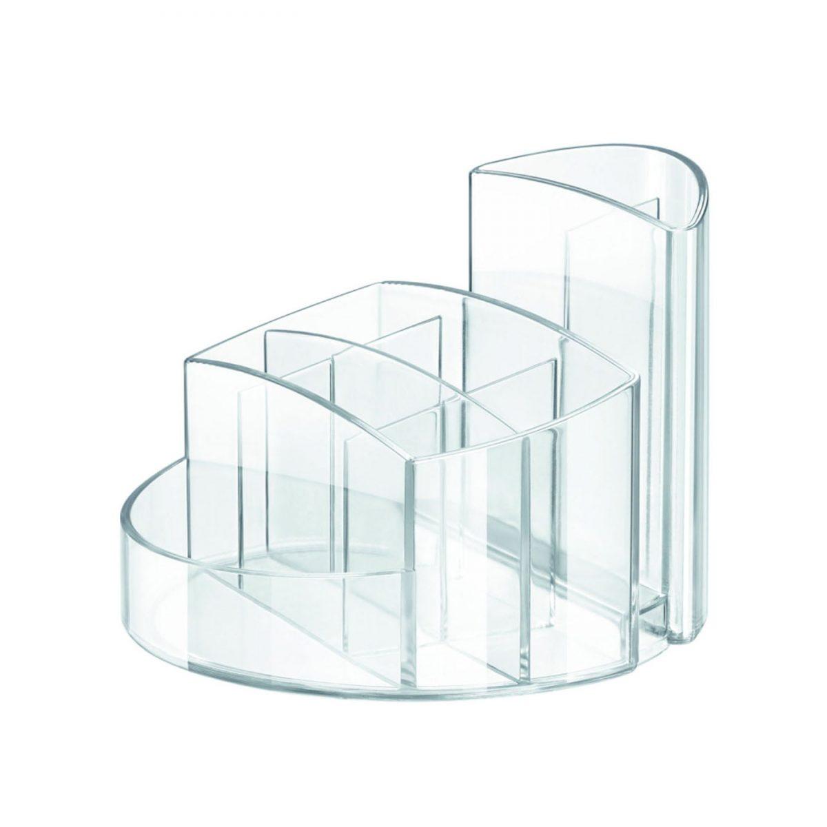 Suport pentru articole de birou, HAN Rondo - transparent cristal