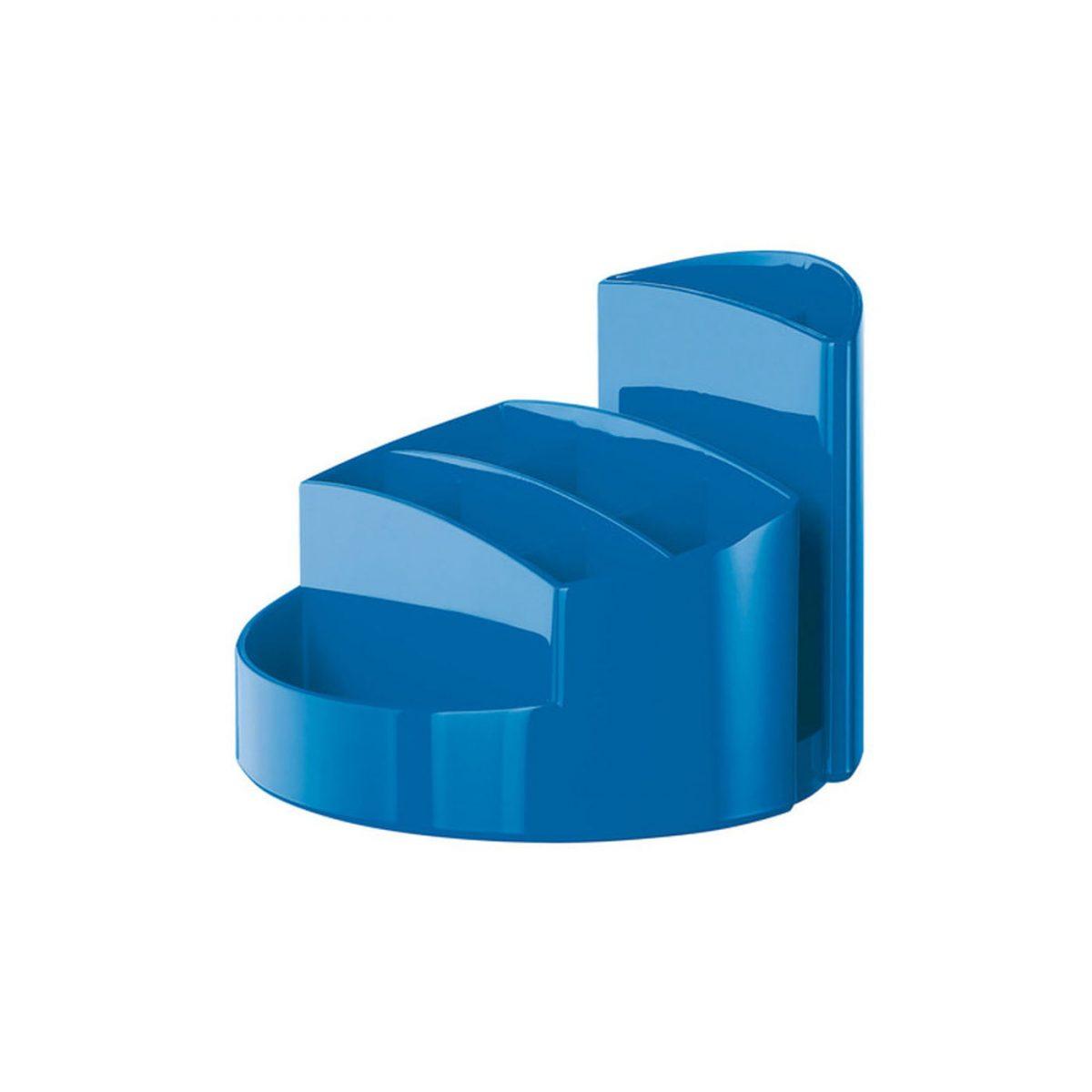 Suport pentru articole de birou, HAN Rondo - albastru metalizat