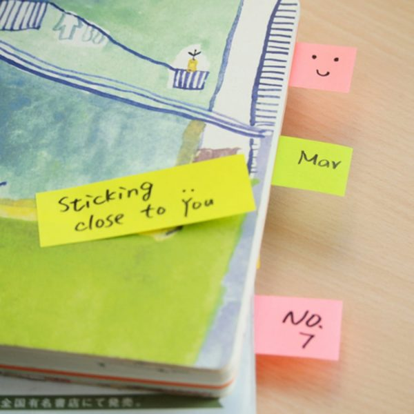"Stick notes index 76 x 25 mm, 3 x 50 file/set, Stick""n - 3 culori pastel"