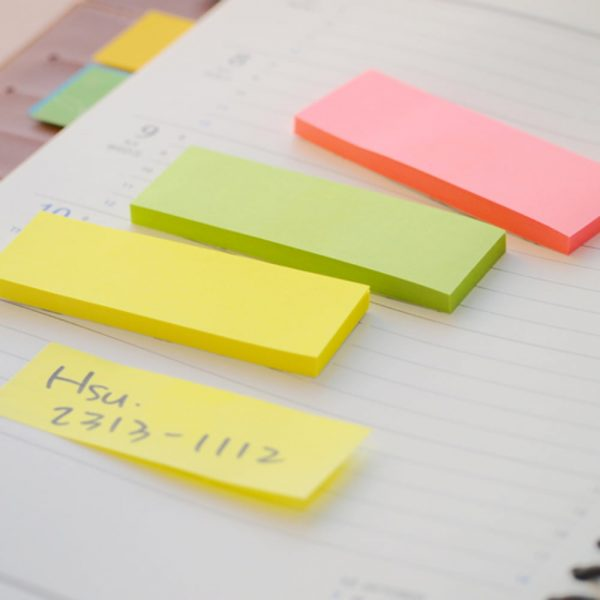 "Stick notes index 76 x 25 mm, 3 x 50 file/set, Stick""n - 3 culori neon"
