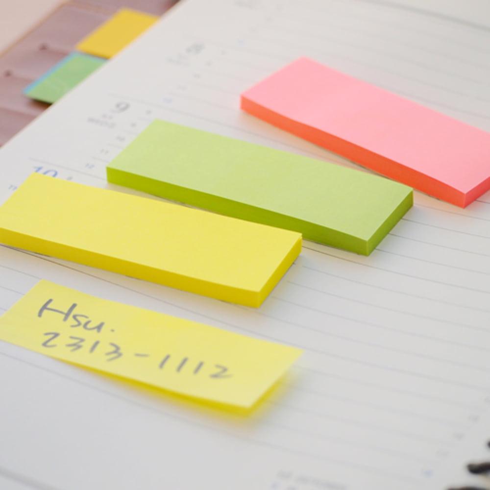 "Stick notes index 76 x 25 mm, 3 x 50 file/set, Stick""n - 3 culori neon"