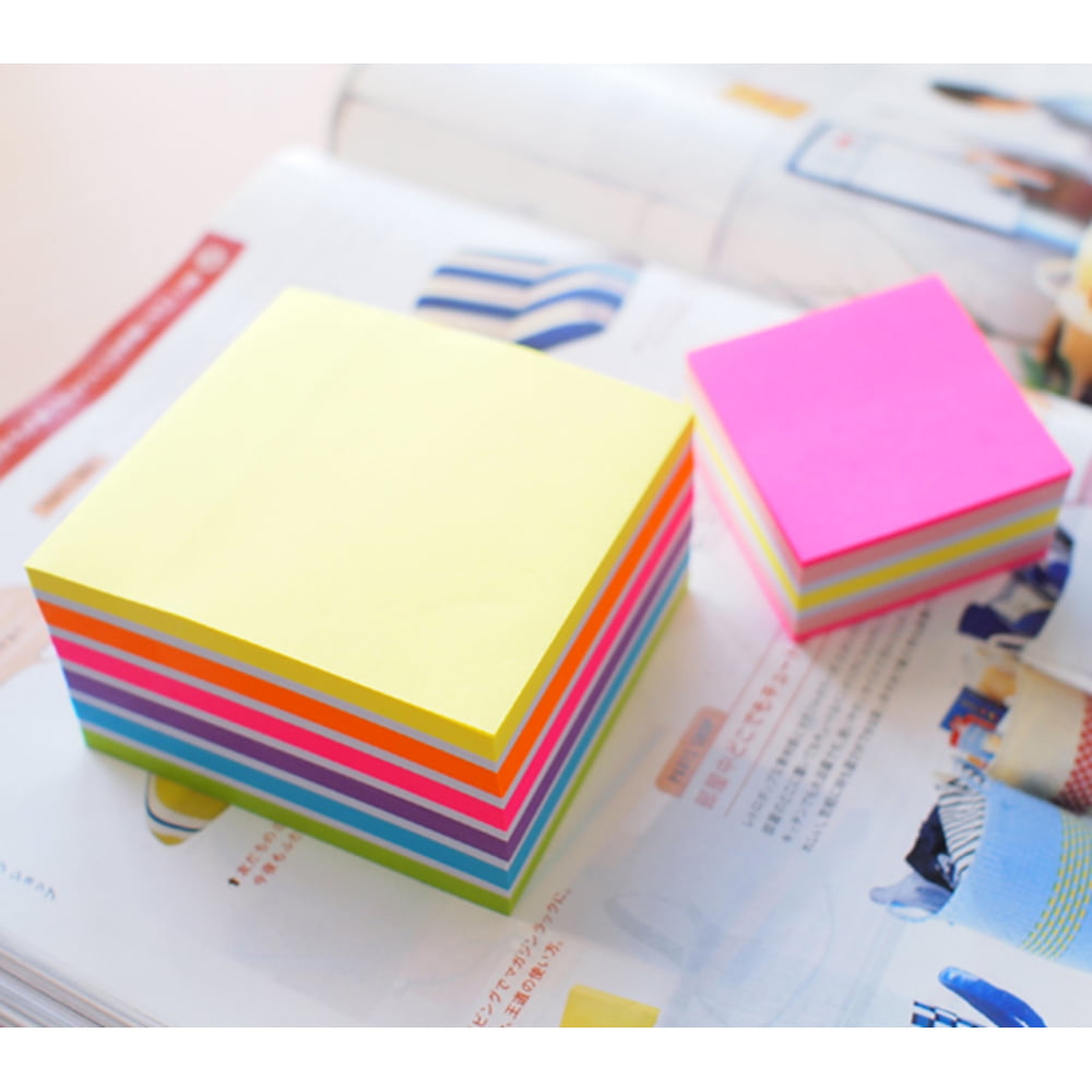 """Cub notes autoadeziv 51 x 51 mm, 250 file, Stick""""n - 5 culori neon"""