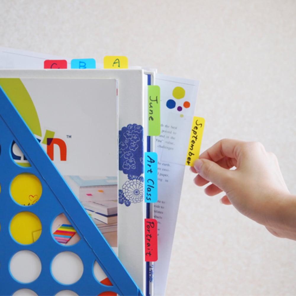 "Index plastic cu margini color 37 x 50 mm, 3 x 10file, Stick""n - 3 culori neon"