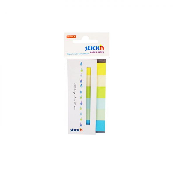 "Stick index hartie color 45 x 15 mm, 6 x 30 file/set, Stick""n - 6 culori neon si pastel"
