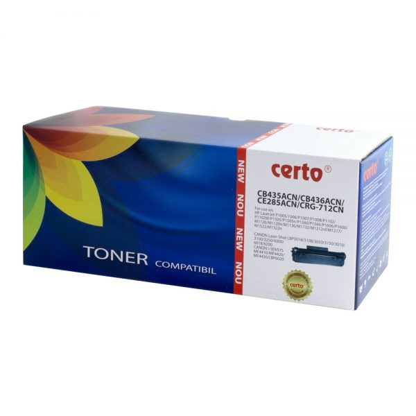 Toner compatibil CERTO NEW CB435A/CB436A/CE285A/CRG-712 2,1K HP LASERJET P1005
