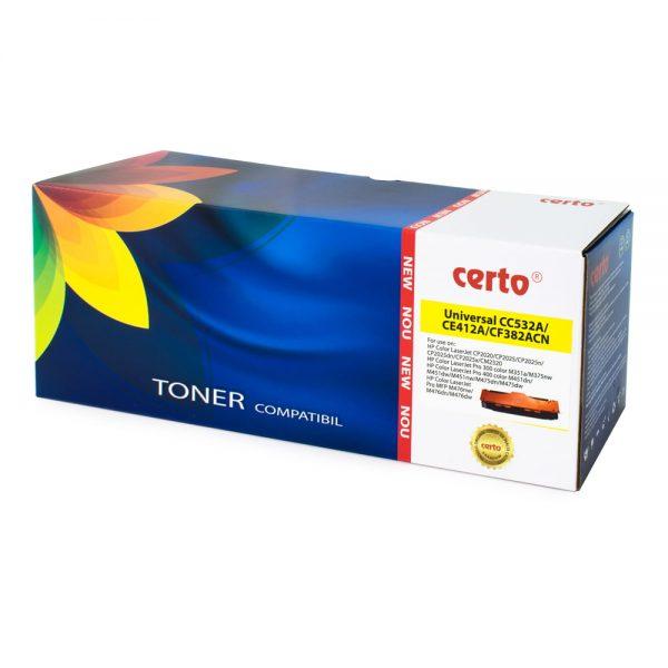 Toner compatibil CERTO NEW YELLOW CC532A/CE412A/CF382A 2,8K HP LASERJET CP2025