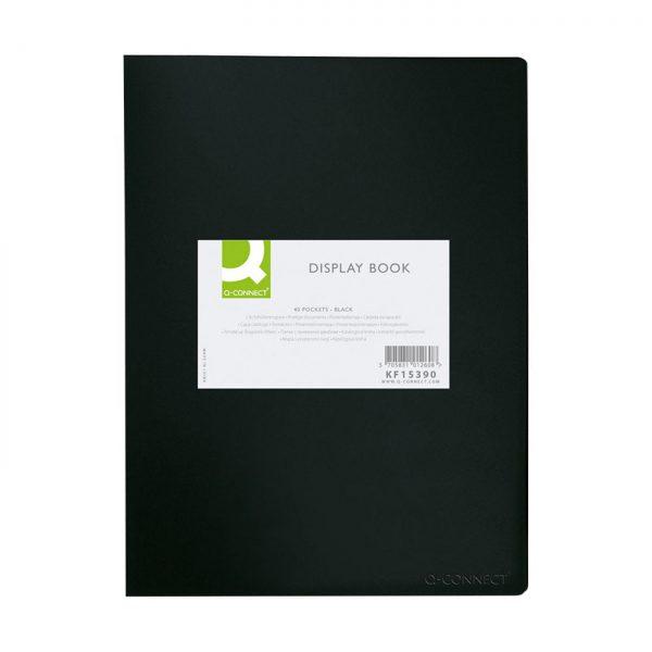Dosar de prezentare cu 20 folii, A3, coperta rigida, Q-Connect - negru