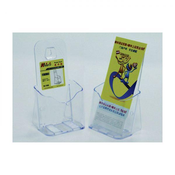 Display plastic pentru brosuri, de birou/perete, 1 x 1/3A4, KEJEA - transparent
