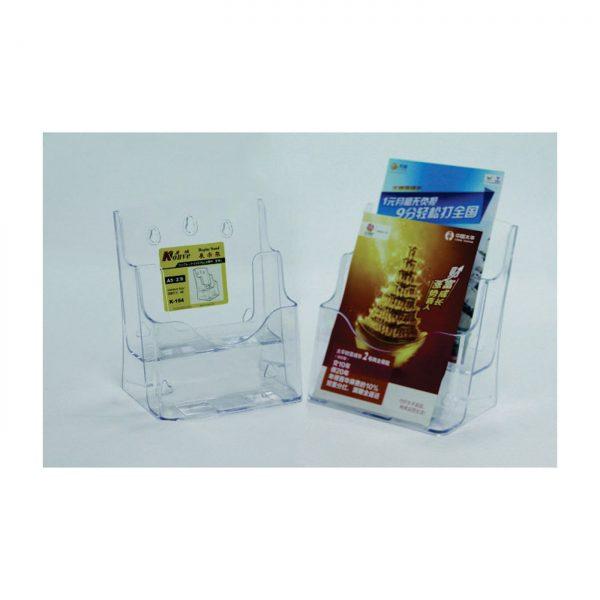 Display plastic pentru pliante, 2 x A5, KEJEA - transparent