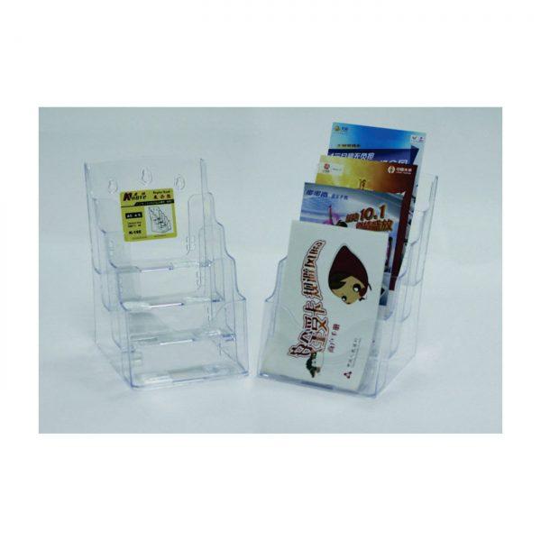 Display plastic pentru pliante, 4 x A5, KEJEA - transparent